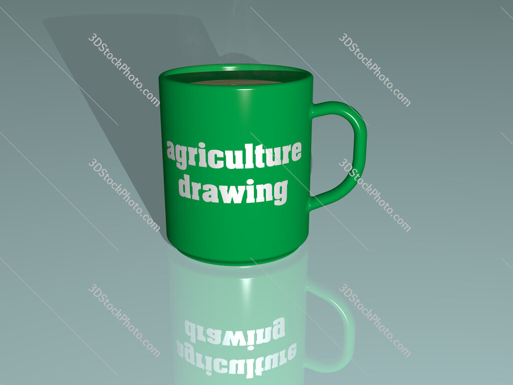 agriculture drawing text on a coffee mug