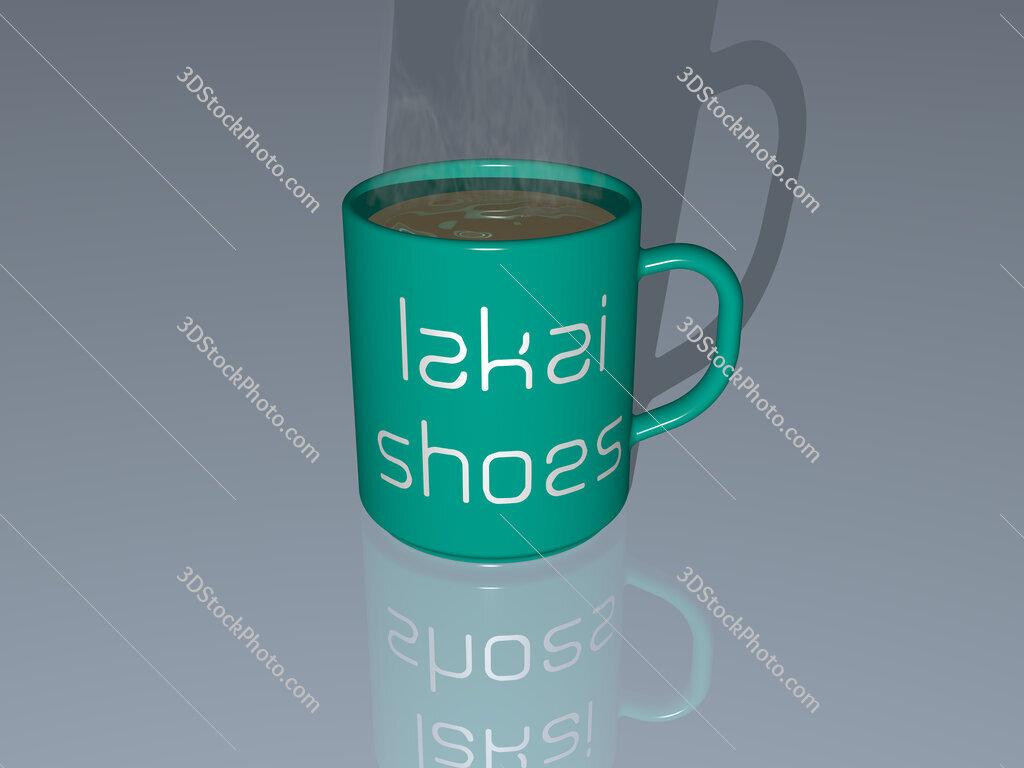 lakai shoes text on a coffee mug