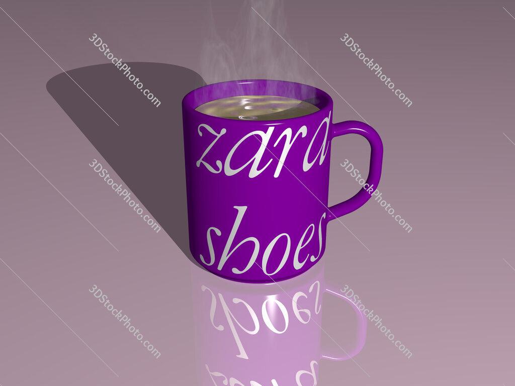 zara shoes text on a coffee mug