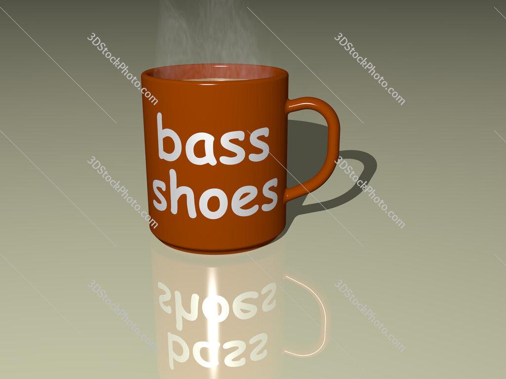bass shoes text on a coffee mug