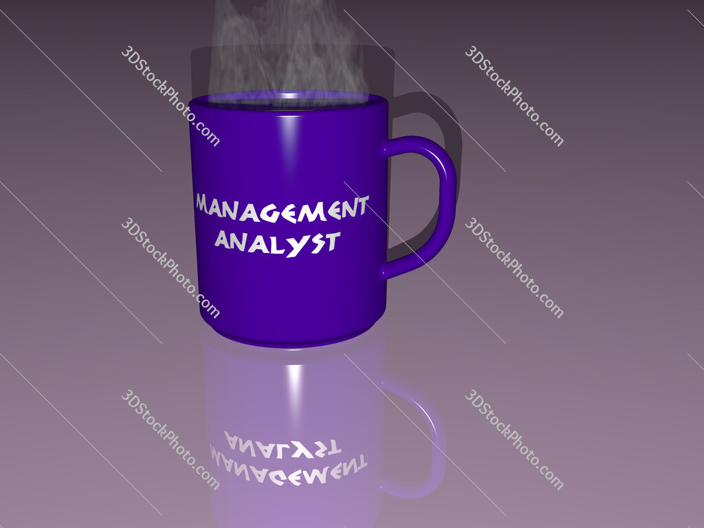management analyst text on a coffee mug