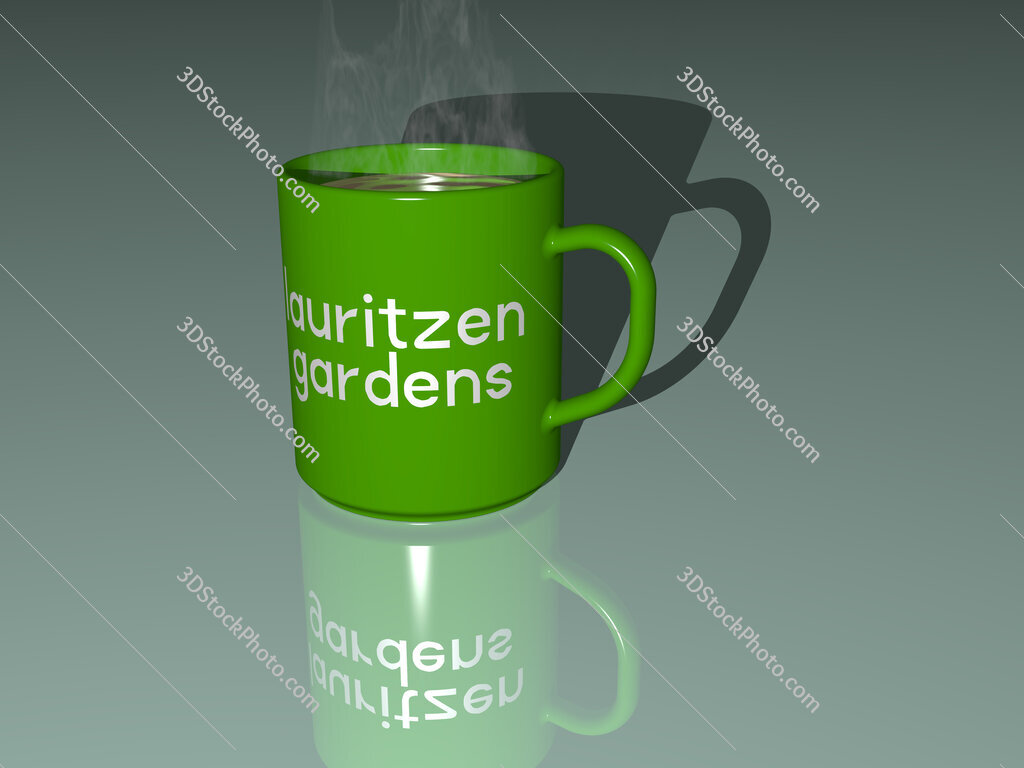 lauritzen gardens text on a coffee mug