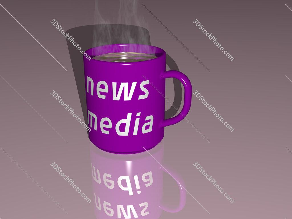 news media text on a coffee mug