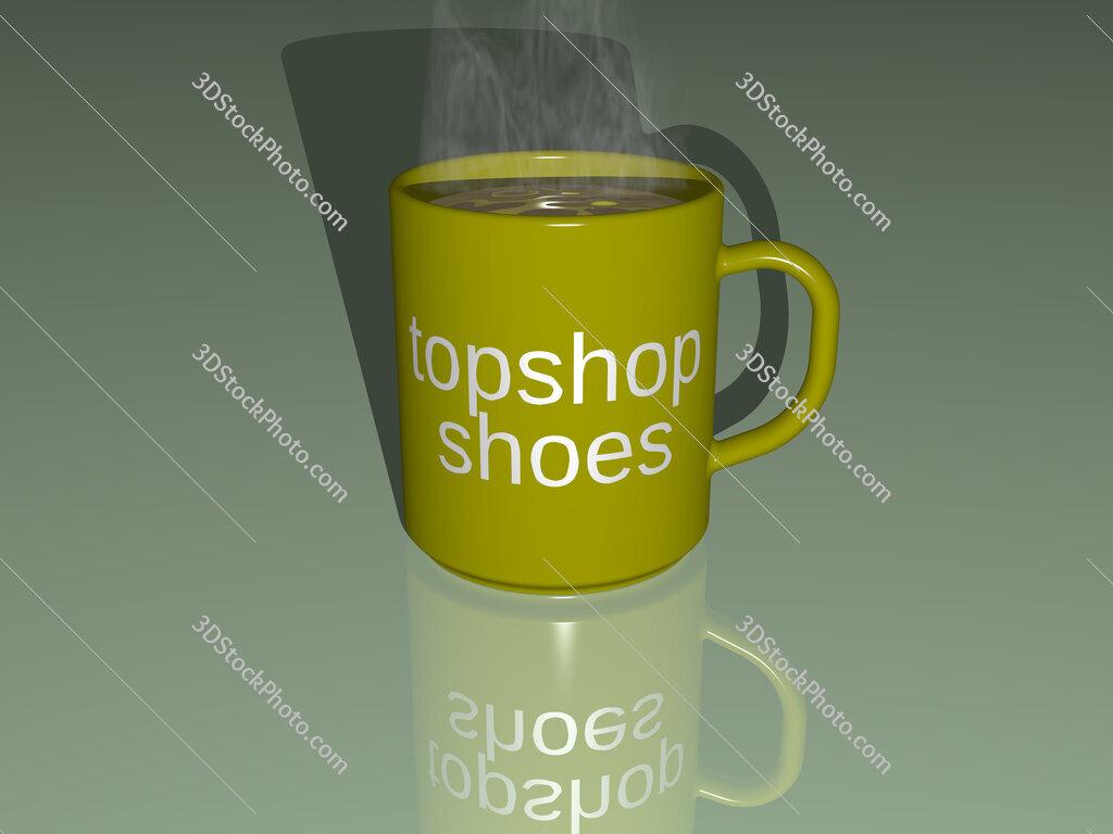 topshop shoes text on a coffee mug