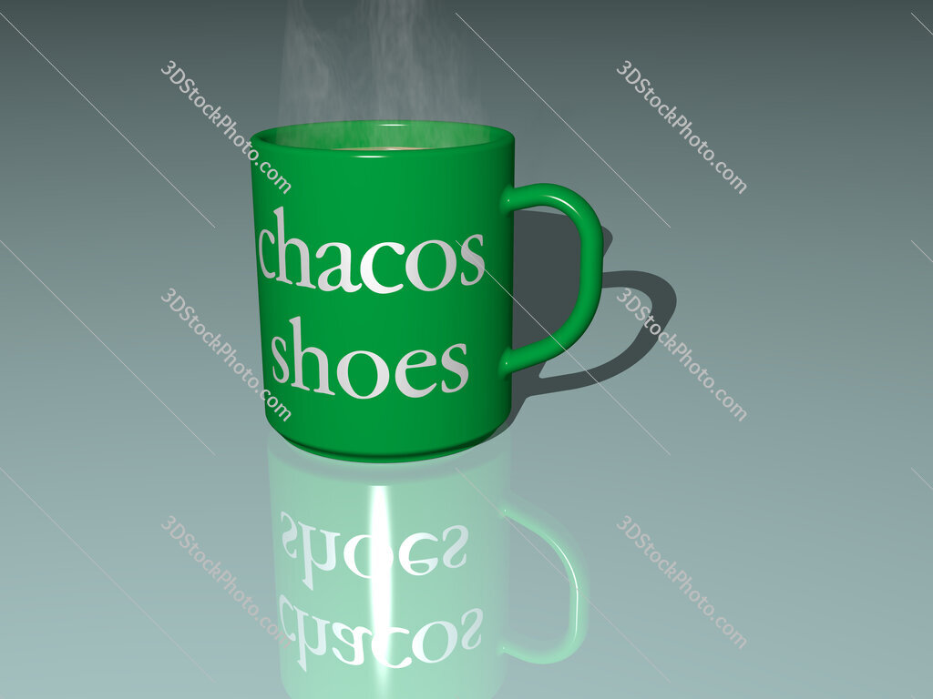 chacos shoes text on a coffee mug