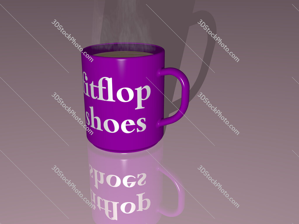 fitflop shoes text on a coffee mug