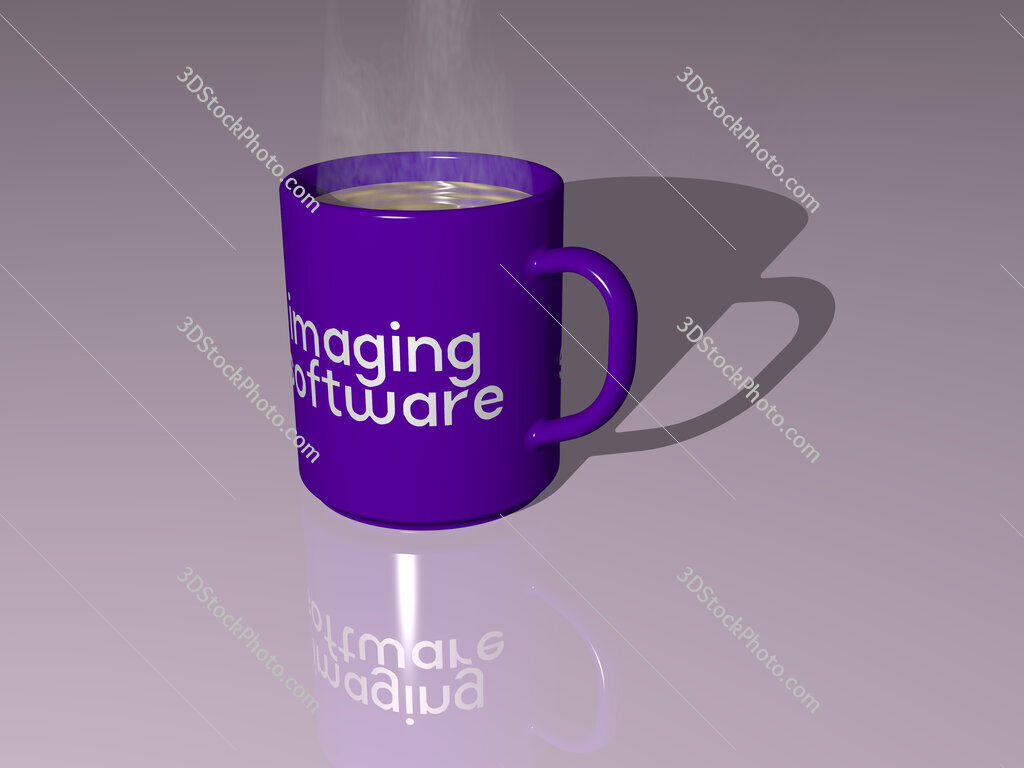 imaging software text on a coffee mug