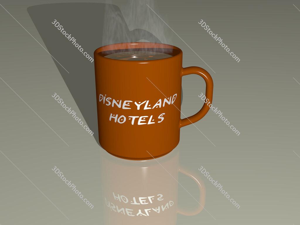 disneyland hotels text on a coffee mug