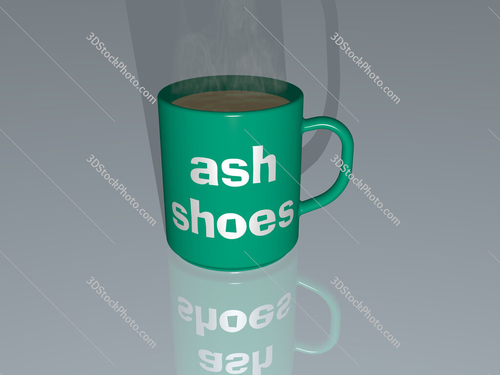 ash shoes text on a coffee mug