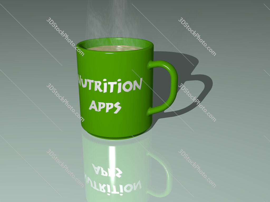 nutrition apps text on a coffee mug