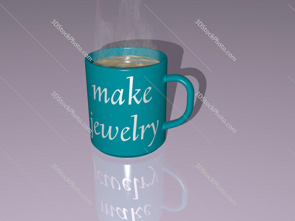 make jewelry text on a coffee mug