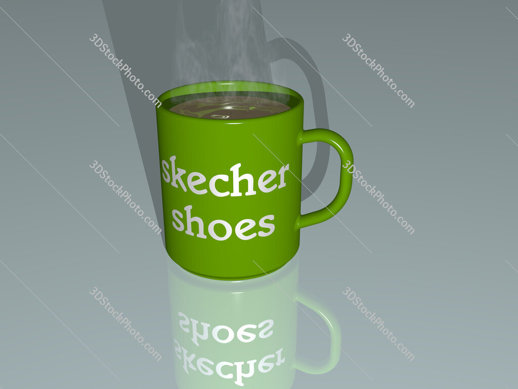 skecher shoes text on a coffee mug