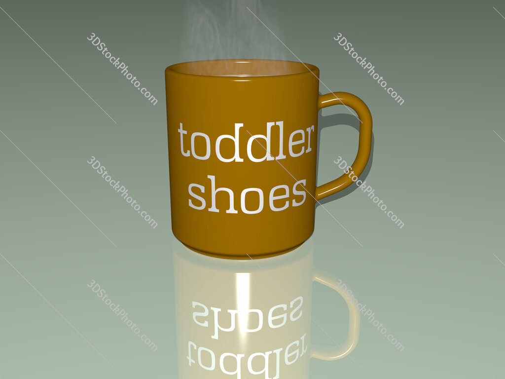 toddler shoes text on a coffee mug