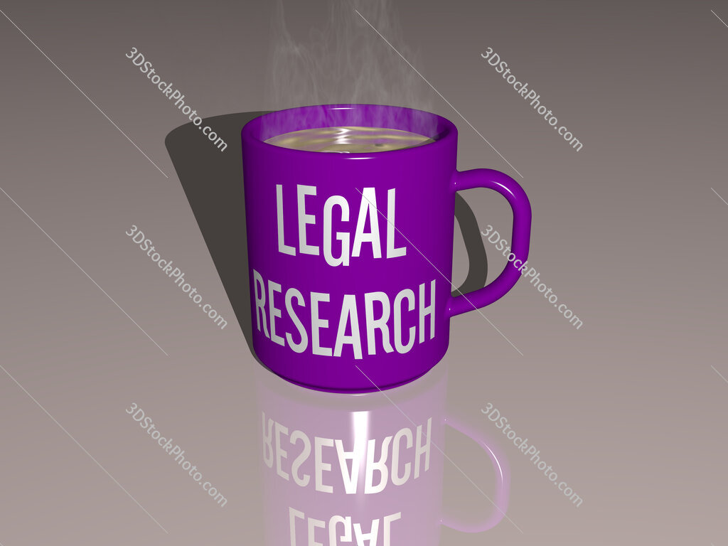 legal research text on a coffee mug