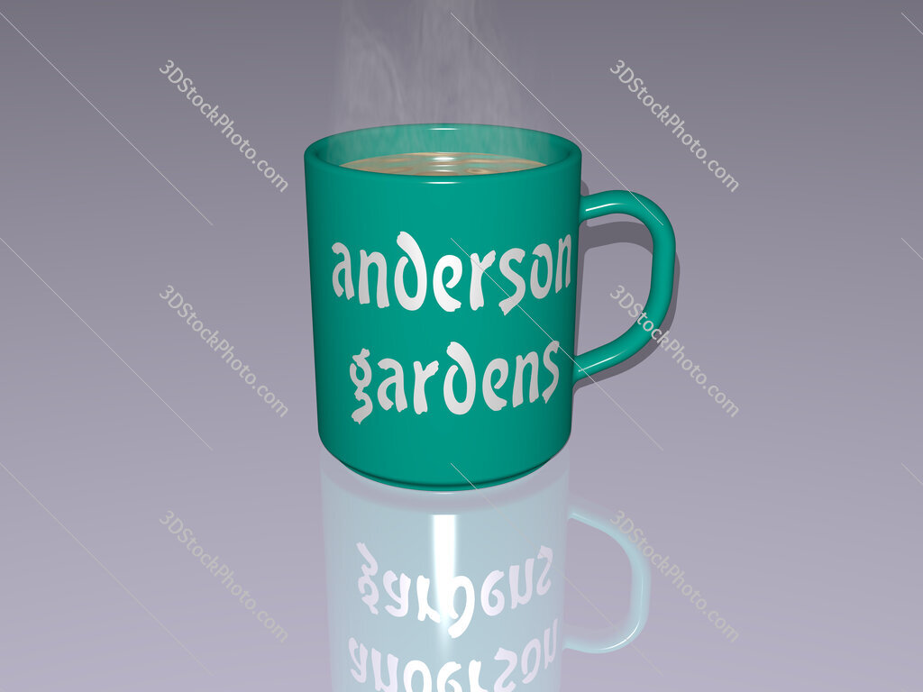 anderson gardens text on a coffee mug