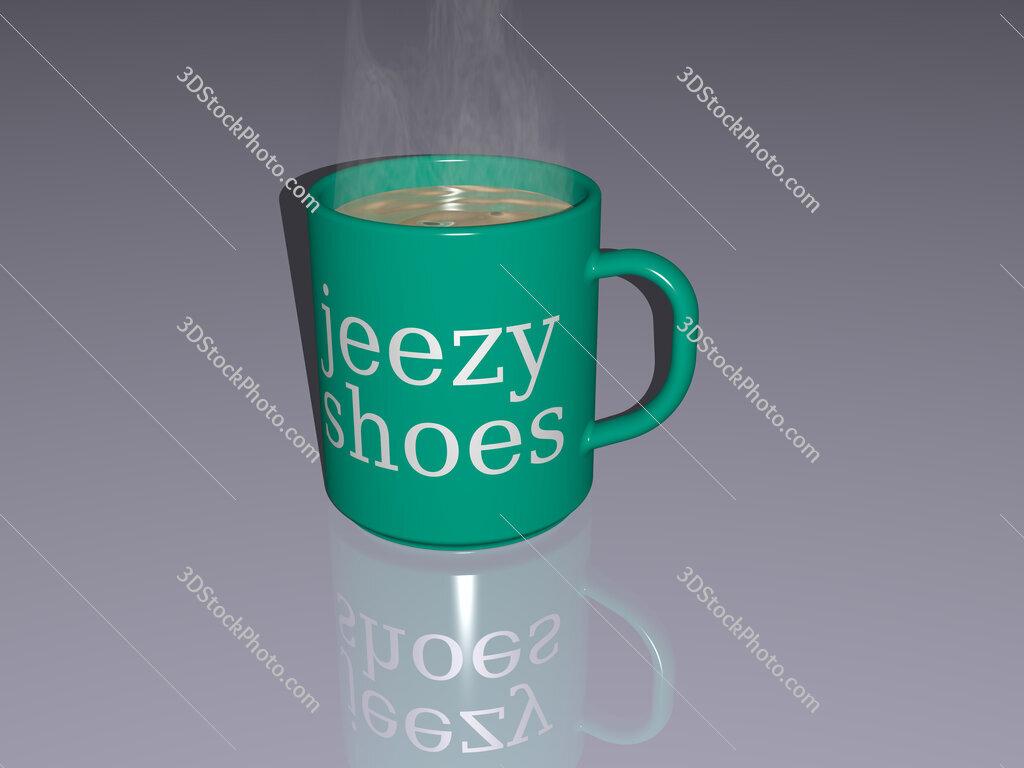 jeezy shoes text on a coffee mug
