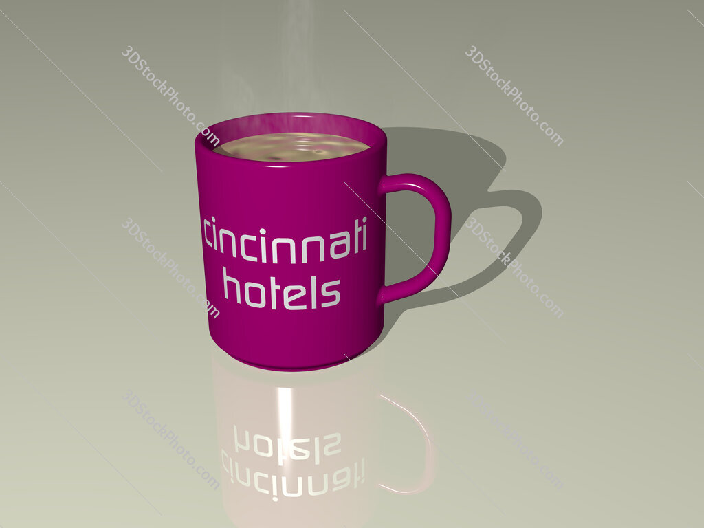 cincinnati hotels text on a coffee mug