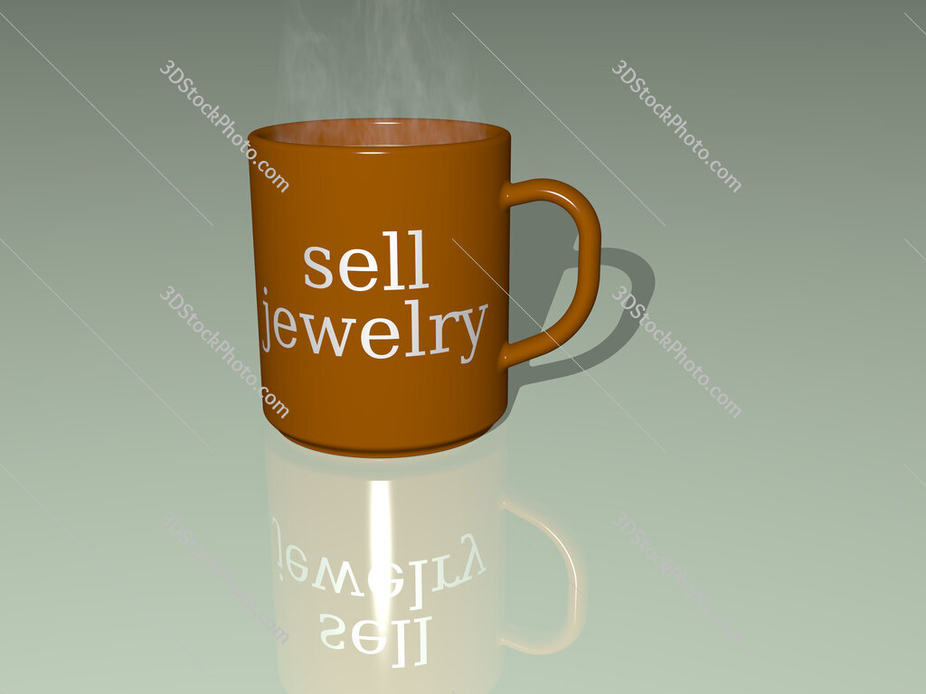 sell jewelry text on a coffee mug