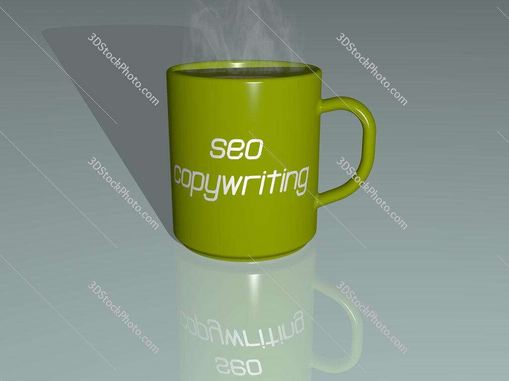 seo copywriting text on a coffee mug