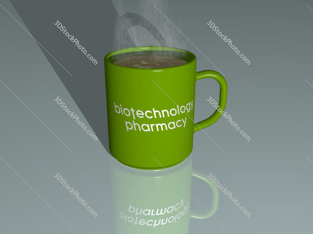 biotechnology pharmacy text on a coffee mug