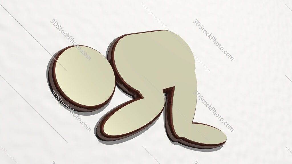 Muslim prayer sign 3D drawing icon