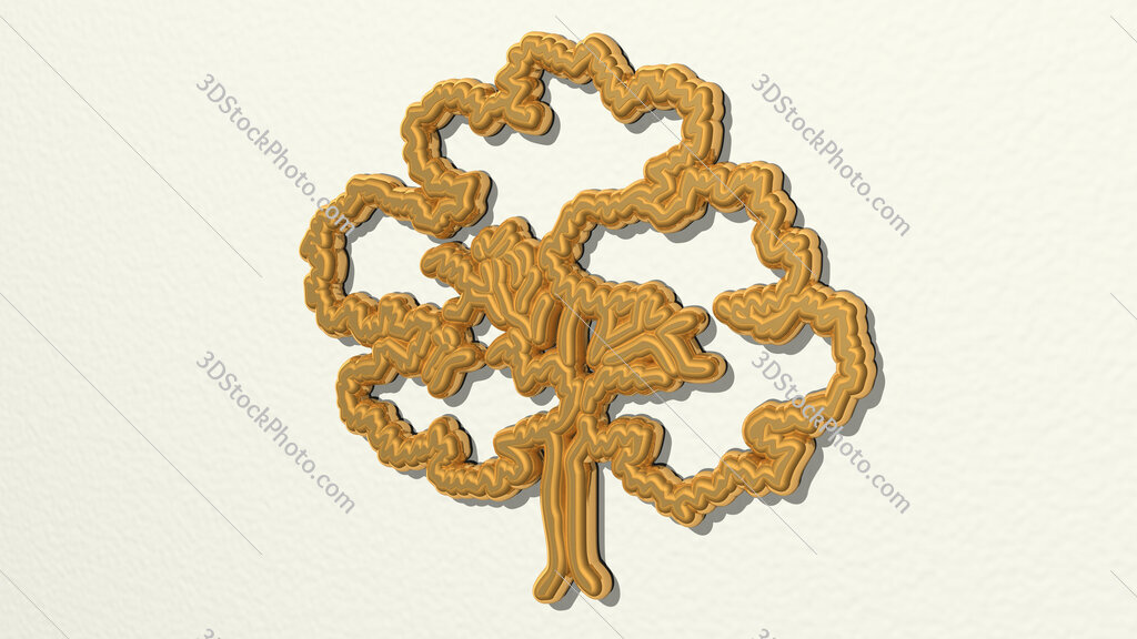tree pencile drawing 3D drawing icon