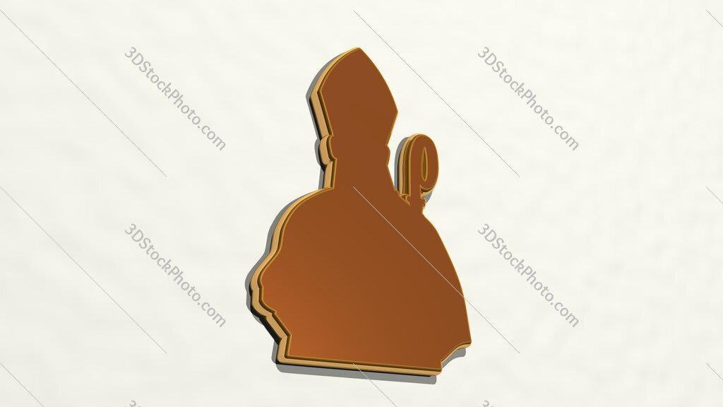 Christian cardinal 3D drawing icon