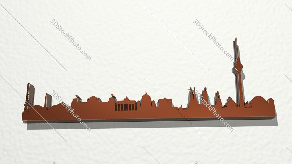 Berlin landscape 3D drawing icon