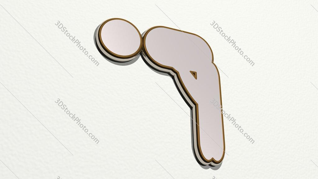 Muslim prayer symbol 3D drawing icon