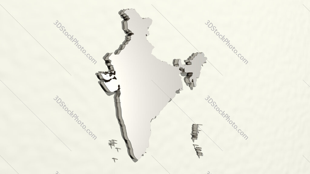 man of India 3D drawing icon