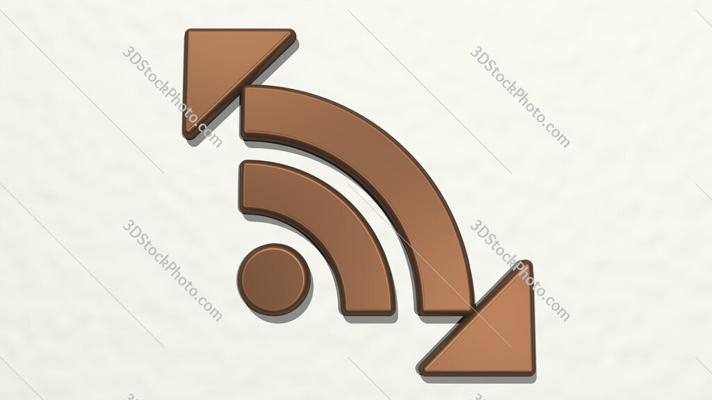 news feed sign 3D drawing icon