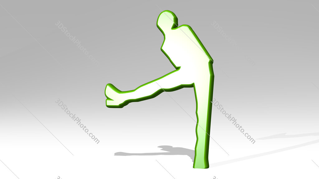 woman with long legs and high heel shoes 3D icon casting shadow