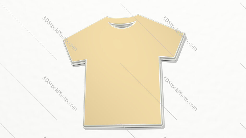 t shirt 3D drawing icon