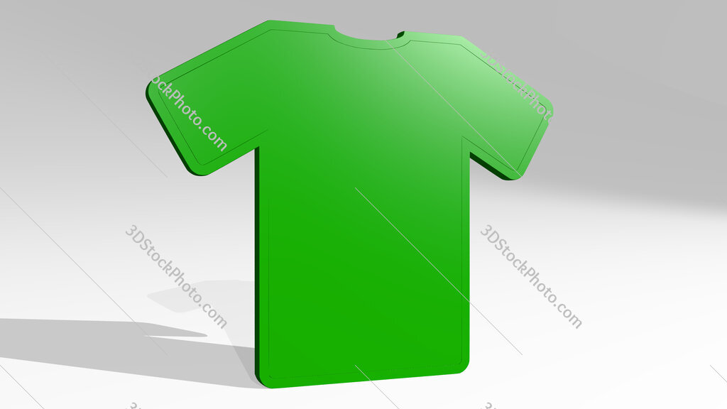 t shirt sign 3D drawing icon on white floor
