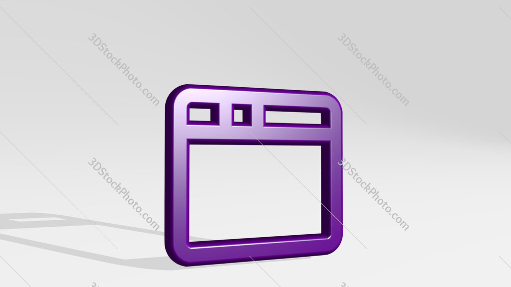 app window 3D icon casting shadow
