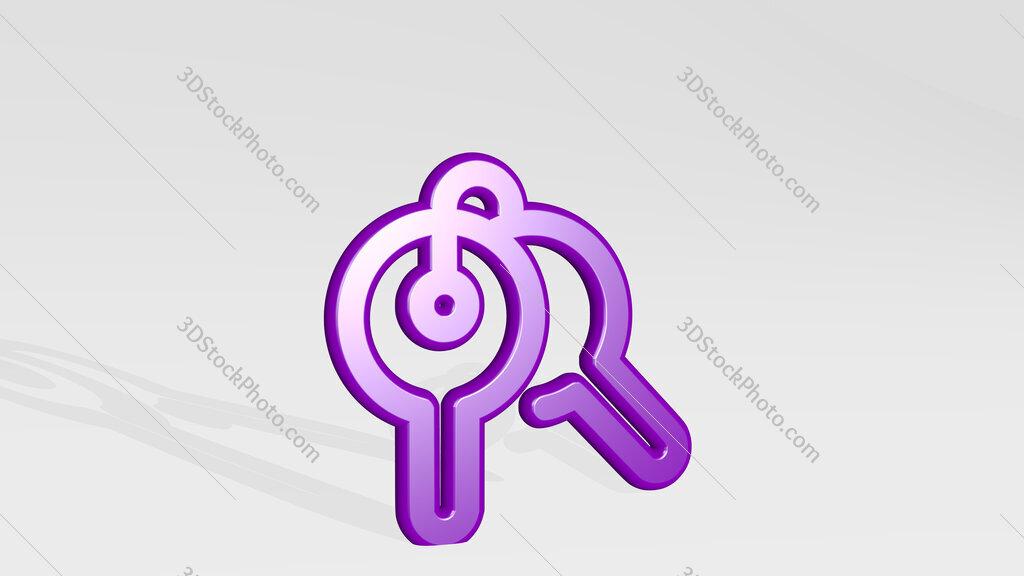 login keys 3D icon casting shadow