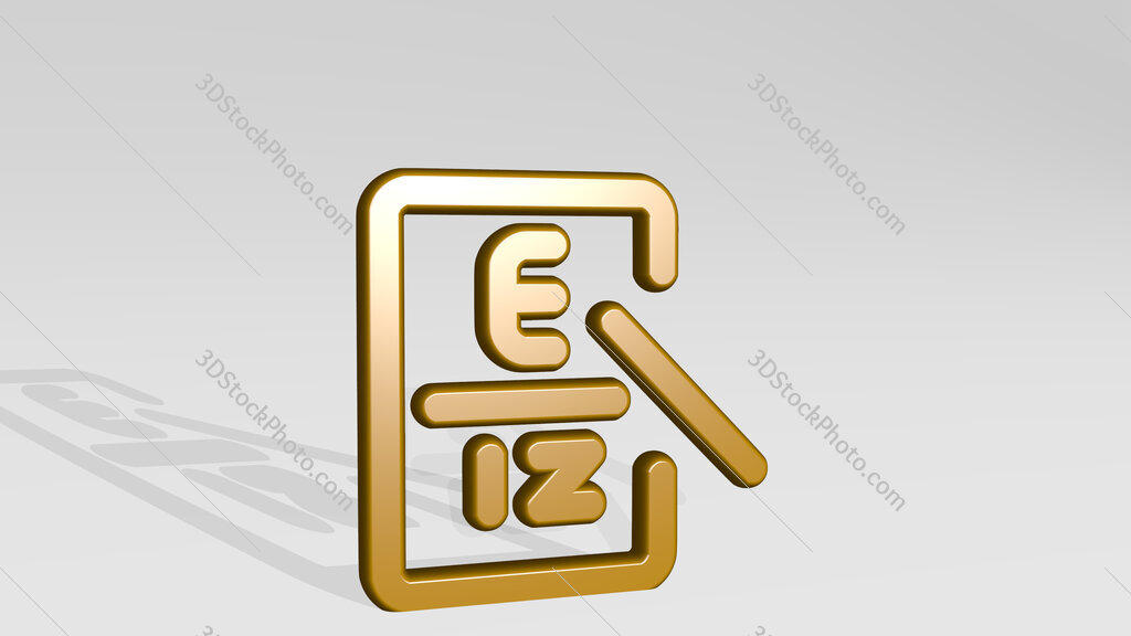 medical specialty optometrist 3D icon casting shadow