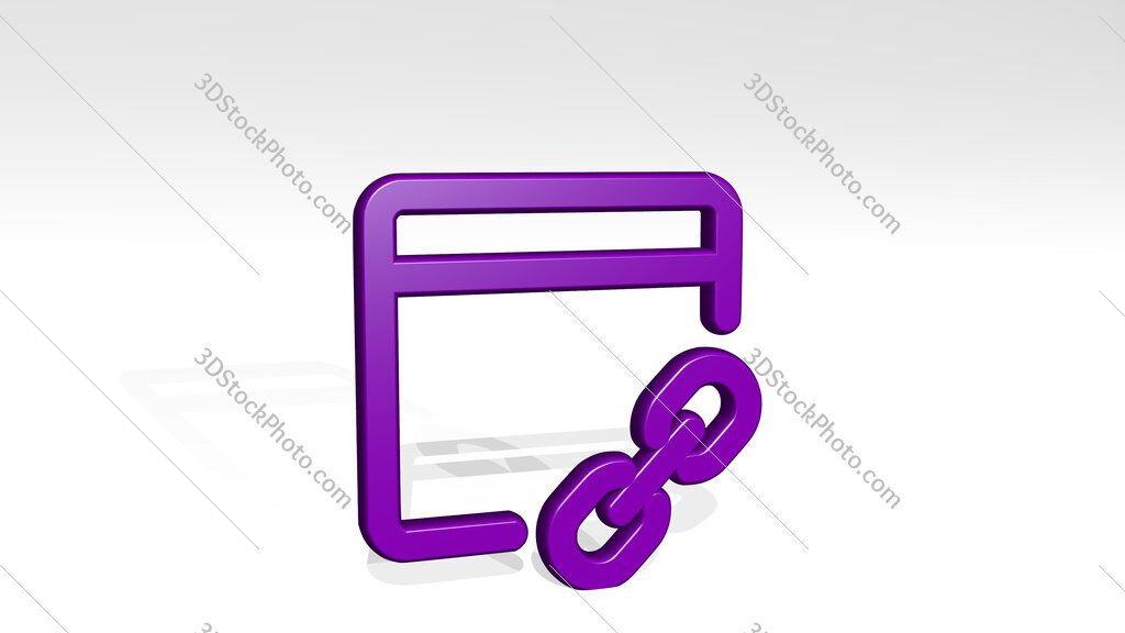 app window link 3D icon casting shadow
