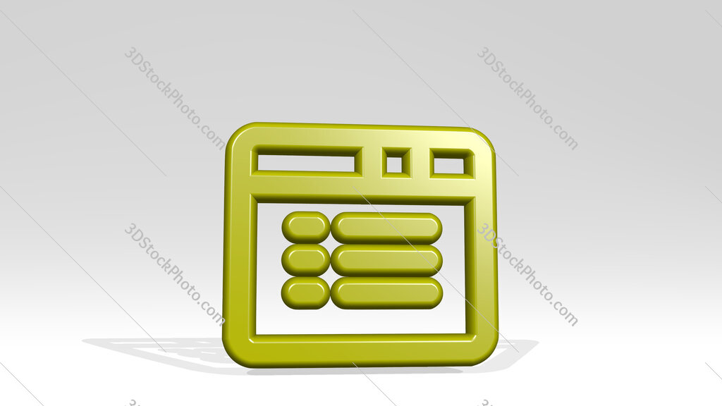 app window text 3D icon casting shadow