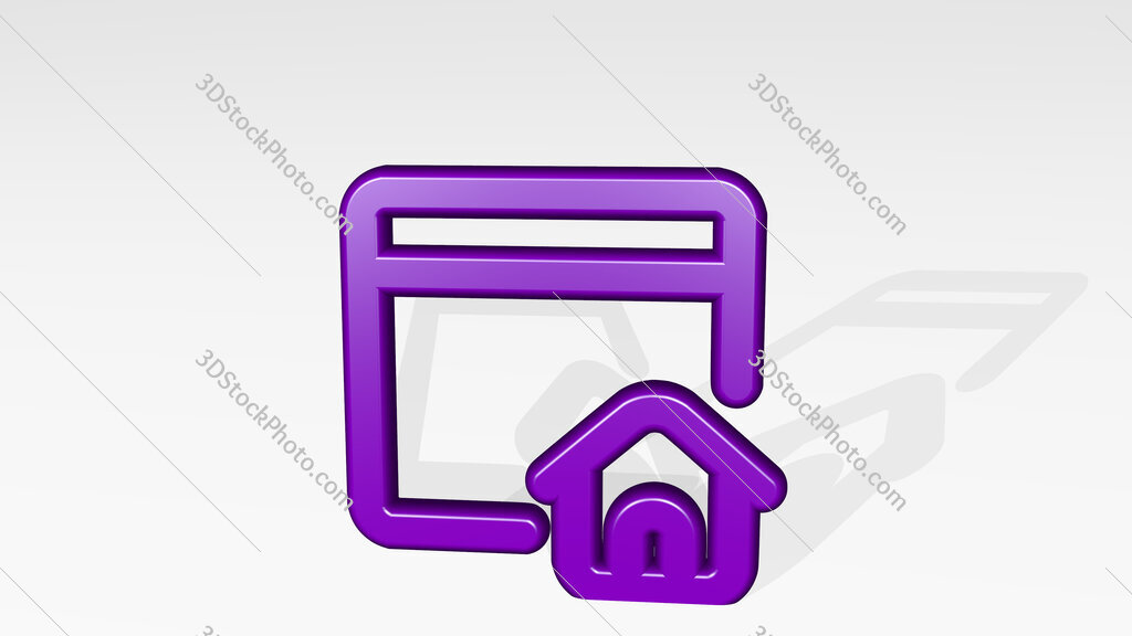 app window home 3D icon casting shadow