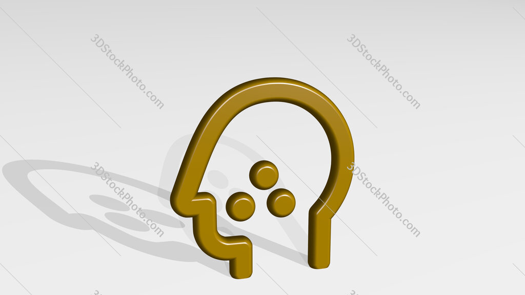medical condition flu 3D icon casting shadow