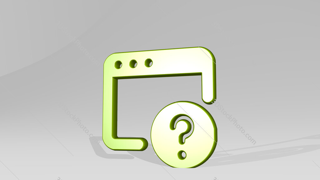 app window question 3D icon casting shadow
