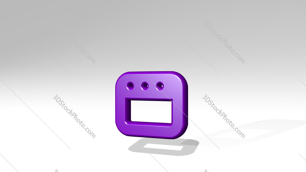 app window small 3D icon casting shadow