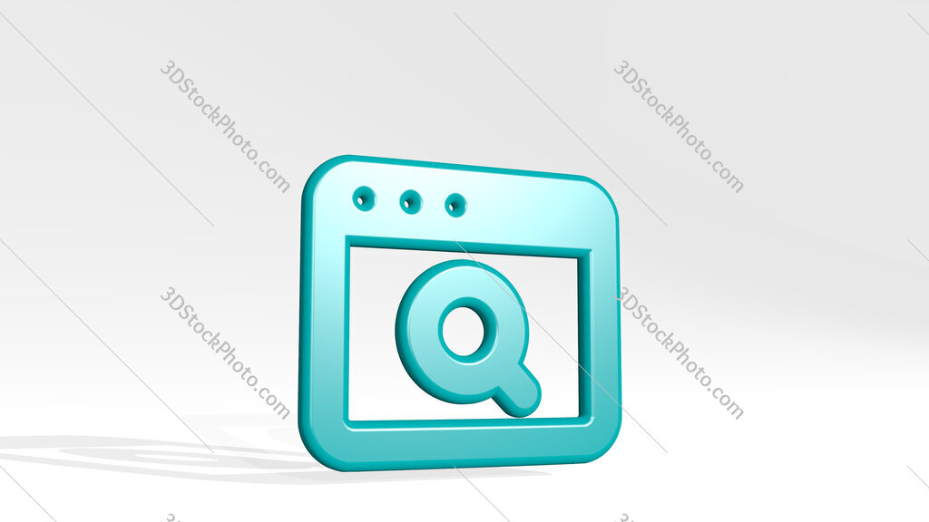 app window search 3D icon casting shadow