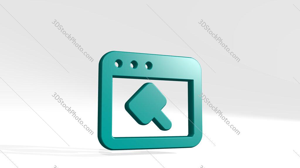 app window hammer 3D icon casting shadow