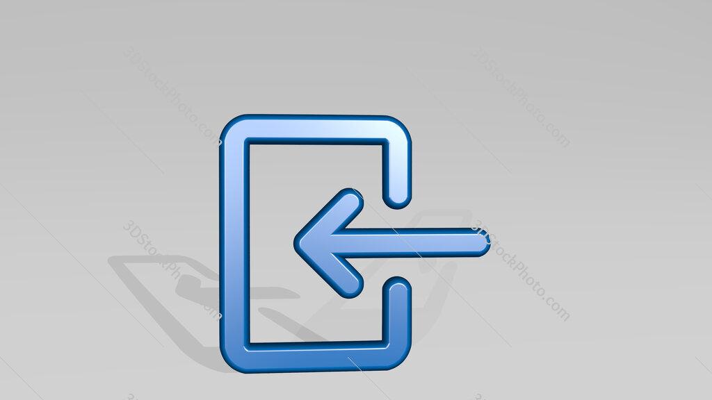 login 3D icon casting shadow