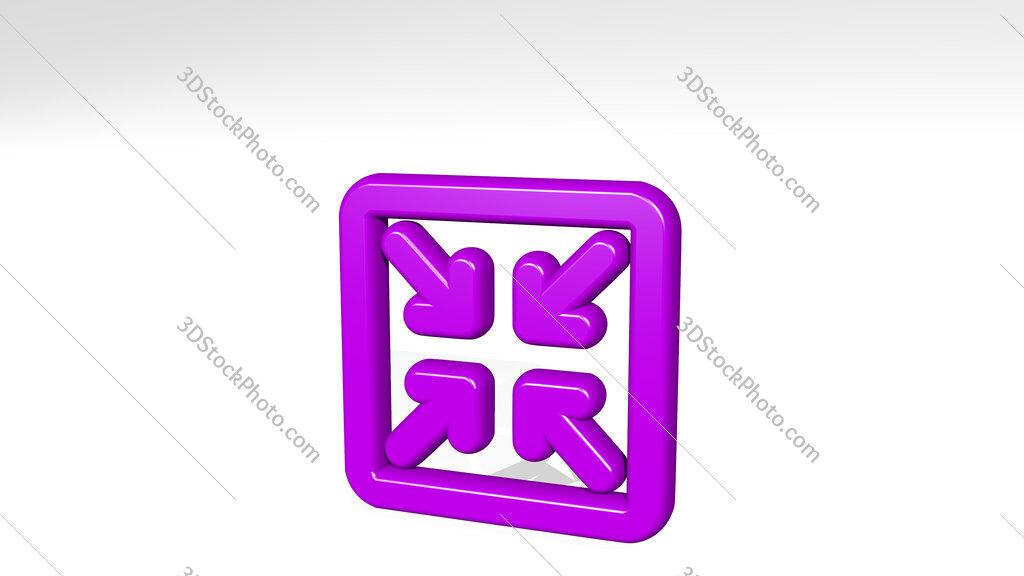 app window minimize_ 3D icon casting shadow