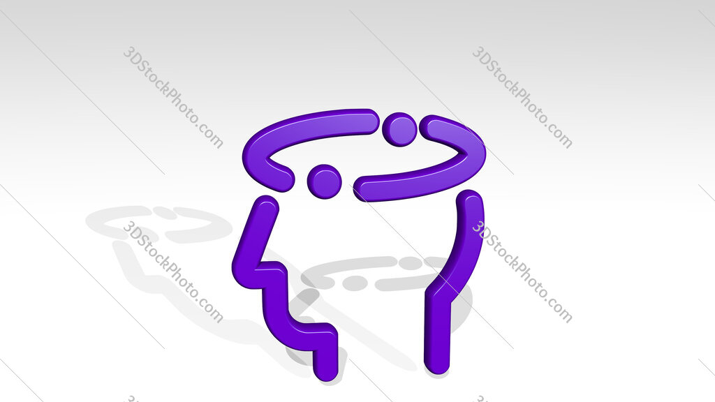 medical condition head dizziness 3D icon casting shadow
