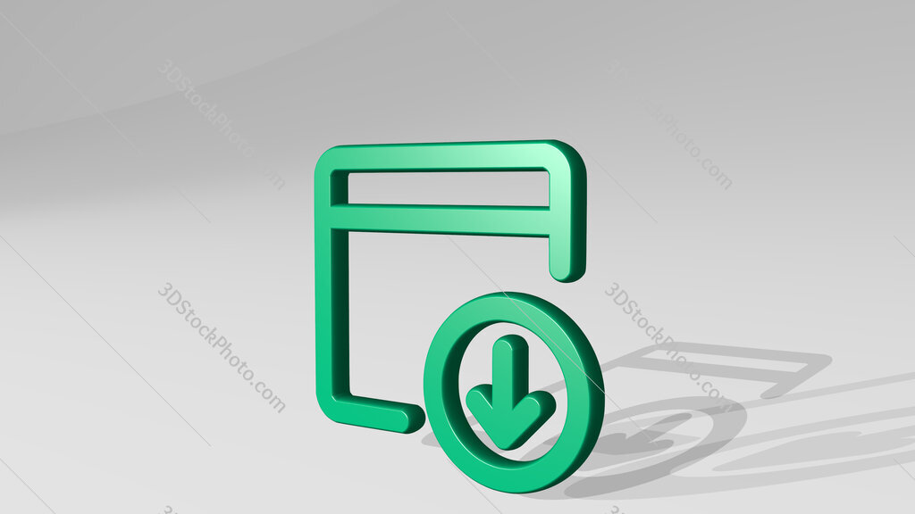 app window download 3D icon casting shadow