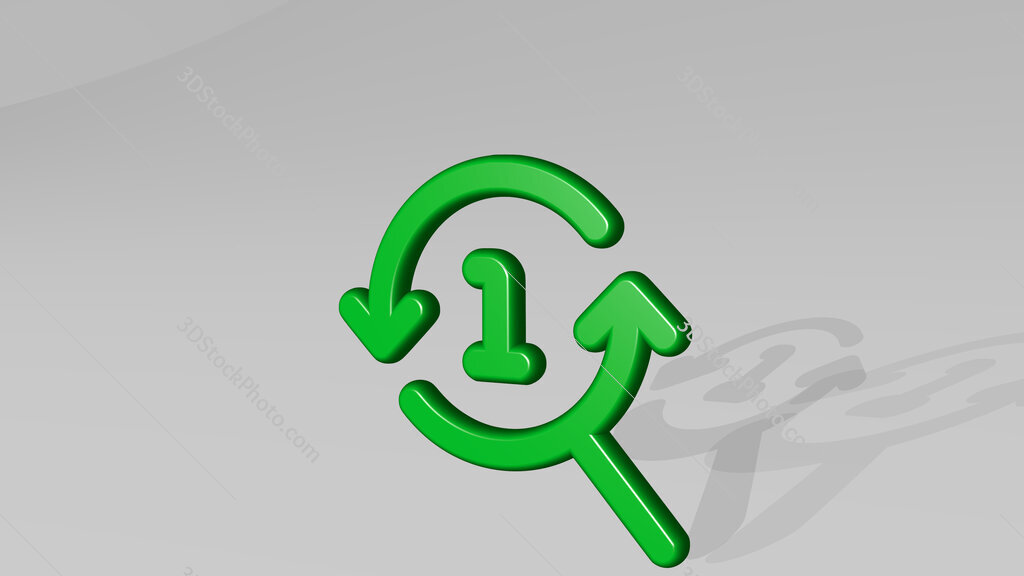 seo search one 3D icon casting shadow